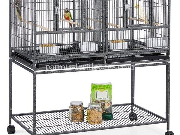 Yaheetech Stackable Wide Bird Cage (Divided Breeder Cage)